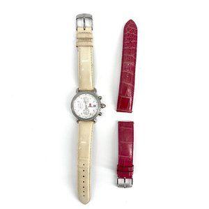Michele Stainless CSX Diamond Chronograph Watch
